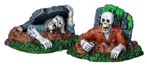22007 - Zombies!!!, Set of 2  - Lemax Spooky Town Halloween Village Figurines