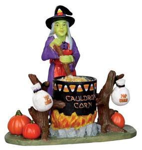 22009 - Cauldron Corn  - Lemax Spooky Town Halloween Village Figurines