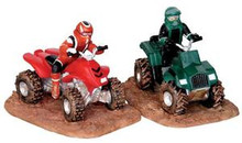 23945 - ATV Action, Set of 2  - Lemax Christmas Village Table Pieces