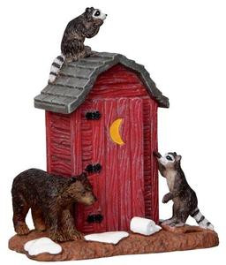 24492 - Outhouse Marauders  - Lemax Christmas Village Misc. Accessories