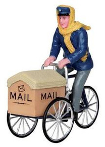 22054 - Mail Delivery Cycle  - Lemax Christmas Village Figurines
