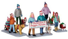 23949 - Christmas Doggie Parade, Set of 5  - Lemax Christmas Village Table Pieces