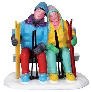 22015 - Tired Skiers  - Lemax Christmas Village Figurines