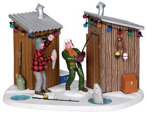 23951 - Friendly Competition  - Lemax Christmas Village Table Pieces