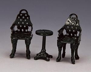 34898 -  Patio Group, Set of 3 - Lemax Christmas Village Misc. Accessories