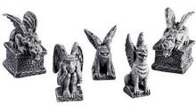 52124 -  Gargoyles, Set of 5 - Lemax Spooky Town Halloween Village Figurines