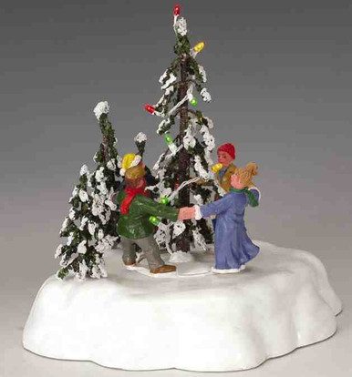 44190 merry christmas tree lemax christmas village trees