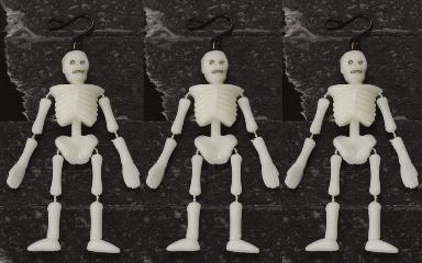 42845 - Halloween Tree Decoration, Set of 3 Skeletons - Lemax Spooky Town Halloween Village Accessories