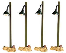 54362 -  Rustic Street Lamp, Set of 4, Battery-Operated (4.5v) - Lemax Christmas Village Misc. Accessories