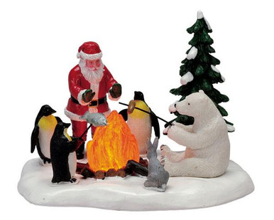 74633 fireside fun battery operated 45v lemax christmas village - Lemax Christmas Village