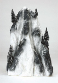 91025 -  Large Ski Mountain Backdrop - Lemax Christmas Village Landscape Items