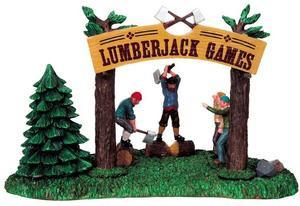 93749 lumberjack games lemax christmas village table pieces - Lemax Christmas Village