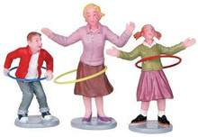 22017 - Teaching Mom, Set of 3  - Lemax Christmas Village Figurines