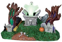 24463 - Haunted Village Cemetery  - Lemax Spooky Town Halloween Village Accessories