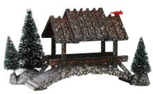14618 -  Wooden Bridge with Trees - Lemax Christmas Village Table Pieces