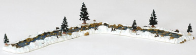 94403 -  Mill Stream, Set of 11 - Lemax Christmas Village Landscape Items