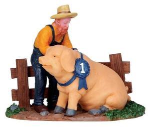 12928 - Prize Pig - Lemax Christmas Village Figurines