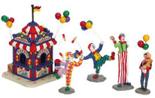 63563 - Ticket Booth with Figurines, Set of 5 - Lemax Carnival Series