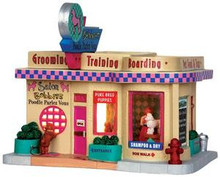 35544 - Bobbies Poodle Parlez Vous  - Lemax Jukebox Junction Christmas Houses & Buildings