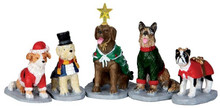32126 - Costumed Canines, Set of 5  - Lemax Christmas Village Figurines