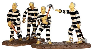 42209 - Chain Gang, Set of 2  - Lemax Spooky Town Halloween Village Figurines