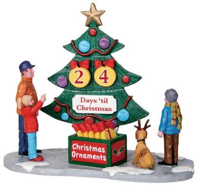 33011 countdown tree set of 7 lemax christmas village table pieces - Lemax Christmas Village