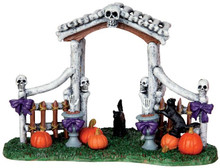 43064 - Bone Arbor  - Lemax Spooky Town Halloween Village Accessories