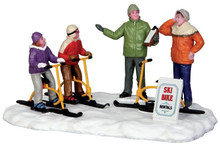 43073 - Ski Bike Rentals  - Lemax Christmas Village Table Pieces