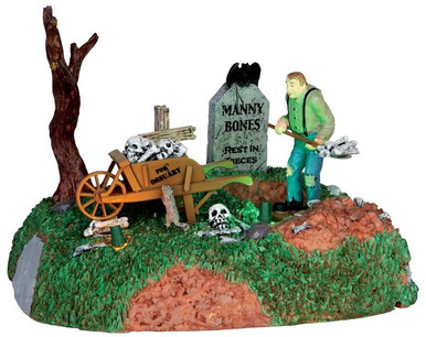 44734 - Igor the Grave Digger, Battery-Operated (4.5-volt)  - Lemax Spooky Town Halloween Village Accessories