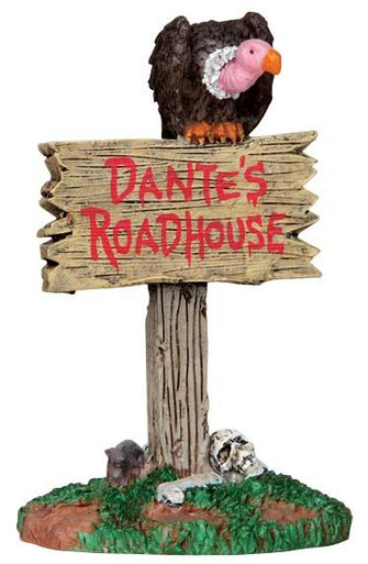 44735 - Roadhouse Sign  - Lemax Spooky Town Halloween Village Accessories