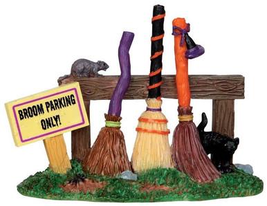 44737 - Broom Parking Rack  - Lemax Spooky Town Halloween Village Accessories