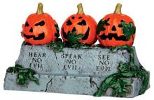 44750 - Evil Pumpkins  - Lemax Spooky Town Halloween Village Accessories