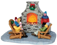 44753 - Outdoor Fireplace, Battery-Operated (4.5v)  - Lemax Christmas Village Table Pieces