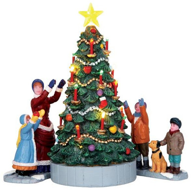 44754 the village tree set of 3 battery operated 45v - Lemax Christmas Village