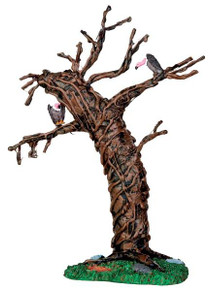 44758 - Twisted Vulture Tree  - Lemax Spooky Town Halloween Village Accessories