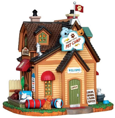 45680 - Friendly Fields Pet Camp  - Lemax Harvest Crossing Christmas Houses & Buildings