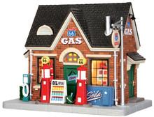 45703 - Vintage Gas Station  - Lemax Jukebox Junction Christmas Houses & Buildings