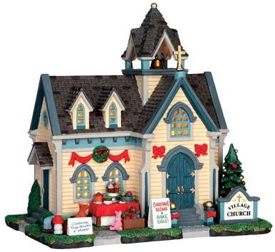 45706 - Village Church  - Lemax Harvest Crossing Christmas Houses & Buildings