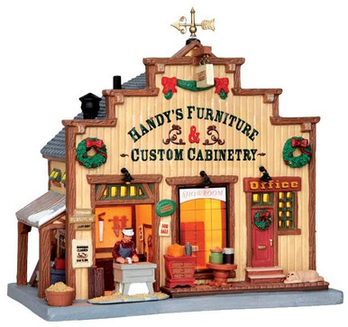 45708 - Handy's Furniture & Custom Cabinetry  - Lemax Harvest Crossing Christmas Houses & Buildings