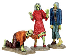 42219 - Walking Zombies, Set of 3 - Lemax Spooky Town Figurines