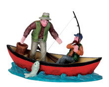 52344 - Canoe Catch - Lemax Christmas Figurines