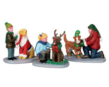 52358 - Doggie Dress Up, Set of 3 - Lemax Christmas Figurines