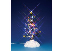 54949 - Lighted Pine Tree, Multi,  Medium, Battery-Operated (4.5v) - Lemax Christmas Village Trees