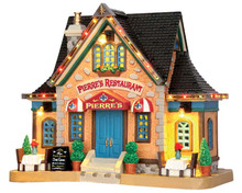 55923 - Pierre's Restaurant, with 4.5v Adaptor - Lemax Caddington Village Christmas Houses & Buildings