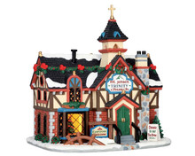 55942 - Rustic Church - Lemax Vail Village Christmas Houses & Buildings