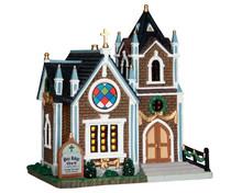 55973 - Pine Ridge Church - Lemax Harvest Crossing Christmas Houses & Buildings