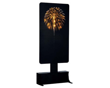 64079 - Yellow Fireworks, Battery-Operated (4.5 Volts) - Lemax Landscape