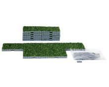 64107 - Plaza System (Grass, Square) - 16 Pcs - Lemax Landscape