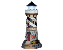 65157 - Windy Cape Lighthouse, Battery-Operated (4.5 Volts) - Lemax Plymouth Corners