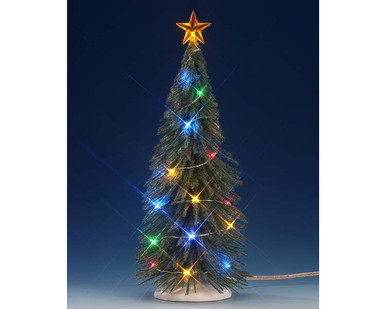 74265 chasing multi light spruce tree large battery operated 45v - Battery Operated Christmas Trees
